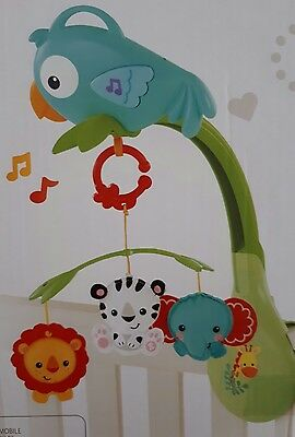 """Fisher Price """"Rainforest Friends 3-in-1 Musical Mobile"""""""