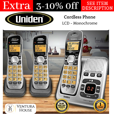 3 Cordless Home Phone Set with Digital Telephone Answering Machine Handset WiFi