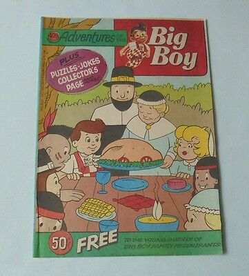 Adventures Of The Big Boy Restaurant Comic Book #409 Pilgrims Thanksgiving 1991