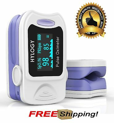 Blood Oxygen Saturation Monitor Pulse Oximeter Fast Accurate With Carrying Bag