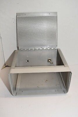 HINGED Metal Electronics Enclosure Project Box Case Vented Gray fr Ham Radio