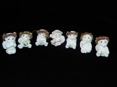 """Vintage Dreamsicles 2"""" Baby Cherub Figures, Lot of 7, Local Free Shipping"""