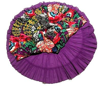 NWOT Desigual Spain Designer Boutique Multi Color Tiered Flounce Skirt 9 - 10