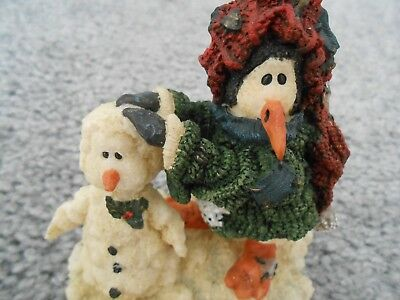 """Boyds Bears Wee Folkstone """"Gaston Coldfin"""" Snowmen, Style # 36801 from 1999"""