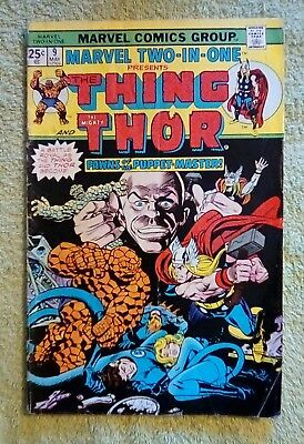 Marvel Two-In-One #9 (May 1975, Marvel) 4.0 VG (Thing, Thor)