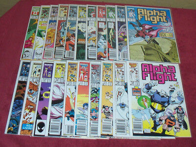 ALPHA FLIGHT Lot of 21 Comic Books  Set Run Marvel Movie