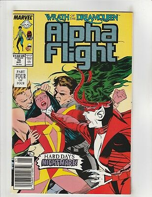 Alpha Flight #70 NM- 9.2 Newsstand Marvel Comics X-Men