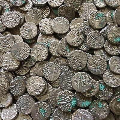Top Quality Lot of 5 Billon Uncertain India Jital coins circa 900-1200 AD