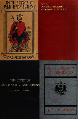 195 Old Books On The Anglo-Saxon, History, Culture, Wars, Language, Kings On Dvd