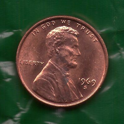 1969 S Penny**UNC**SELL-OFF**Slot Filler or Starter Coin**(69S0327)