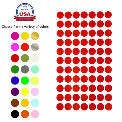 Round Dots Stickers 15mm Colored Labels 1.5cm Circles DIY Projects Scrapbooking
