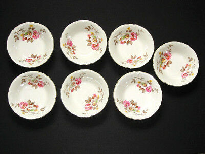 "Fine China Of Japan Antique 7-Set Small Berry Bowls 5 1/2"" Floral EUC"