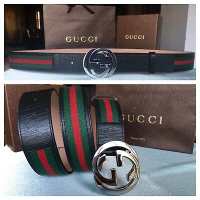 New w/ Tags Authentic Green Red Web Gucci Belt 110 cm fits 36-40 waist