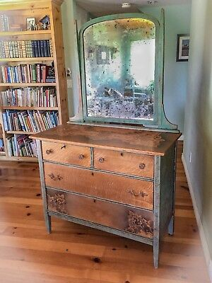 Locking, Antique Dresser, Chest Of Drawers, Dressing Table, Farmhouse Furniture