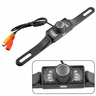 Licence Plate 7LEDs Night Vision Waterproof Car Rear View Reverse Backup Camera