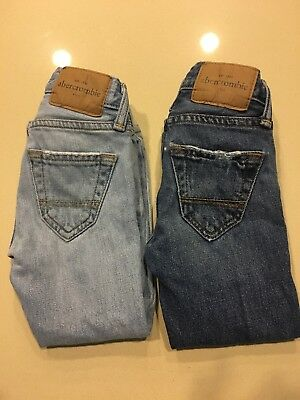 2 Pairs of Boys 3/4 Abercrombie Jeans - Excellent condition