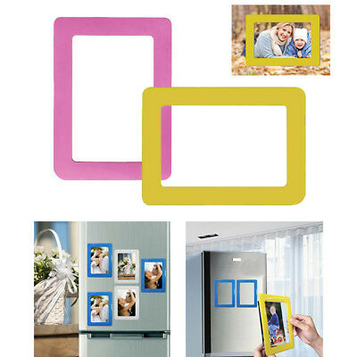 Magnetic Picture Pattern Photo Frame Fashion Wall Sticker Decor Refrigerator