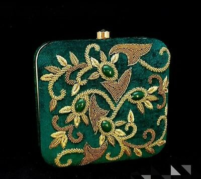 Very-Elegant-Handcrafted-Zardozi-Stone-Embedded-Party-Clutch