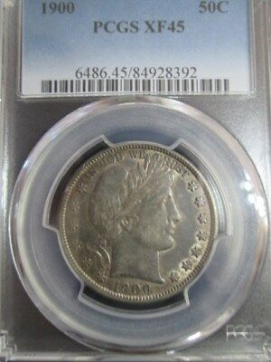 1900 P Barber Half Dollar - PCGS XF45 Rare In This Condition!