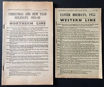 Two Booklets - Timetable Changes Western Line & Northern Line 1955/56