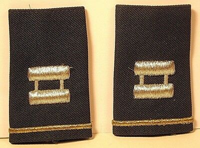 US Army Captain Epaulet Soft Shoulder Boards Small Size for Dress Greens