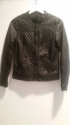 Target Girls Black Biker Style Jacket Size 14 Perfect Condition