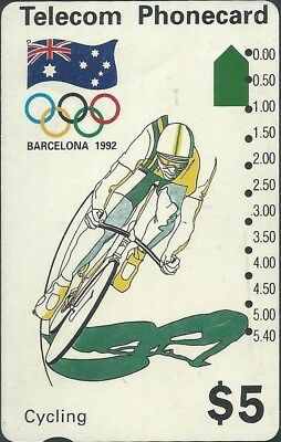 1992 Olympic's  Cycling  $5  Multi Holes  N91043-2-2     (051-2)