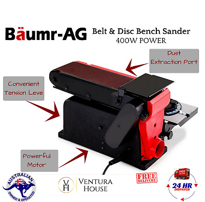 New 400W Belt Disc Sander Linisher Bench Grinder Power Sanding Machine Tool