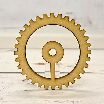 COG SHAPE 8 WOODEN GEARS Multiple Sizes Steampunk Wood Cogs Shapes 2.5cm to 25cm