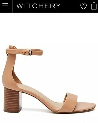 Witchery Antonia Mid Heel Tan leather. Size 39, Only worm a couple of times!