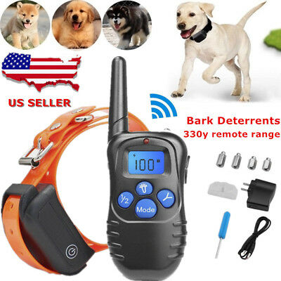 Waterproof Rechargeable Electric LCD Remote Dog Shock Training Shock Collar# BT