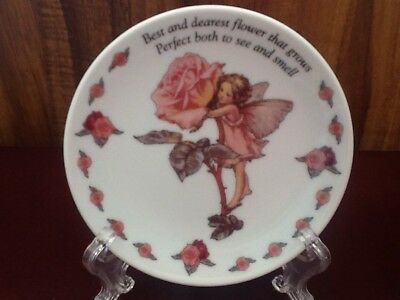 "Very Pretty Collectable Small Plate "" THE ROSE FAIRY"" Flower For June"