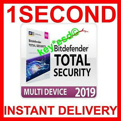 BitDefender TOTAL Security Internet 2019 2018 | 5 Devices 180 Days | KEY INSTANT