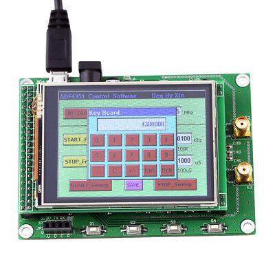 ADF4351 35M-4.4G TFT Touch LCD Screen STM32 Signal Source RF Signal Generator