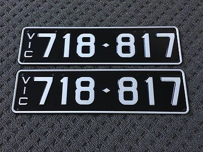 Lucky 718817 Slimline VIC Victorian Number Plates