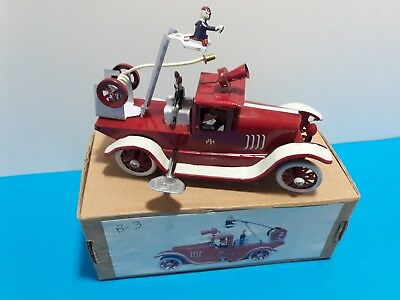 Fire Truck -Vintage model - Wind Up - Tin Toy