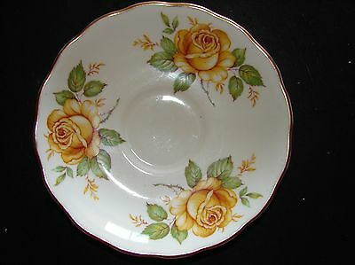 Pretty Melba England Saucer Replacement Ornate Gilt Yellow Rose 14cm Be Inspired