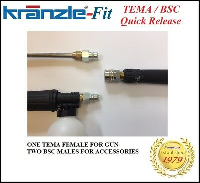 Kranzle -Fit TEMA Quick Release Coupling System K7 K10 etc