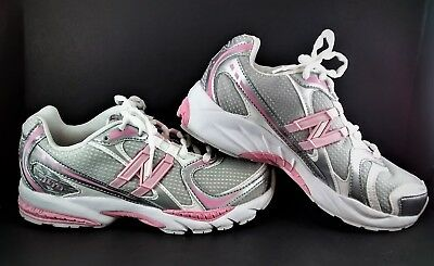 NEW BALANCE 749 Girl's Running SHOES Youth Size 4.5 M Pink Silver Athletic NWOT