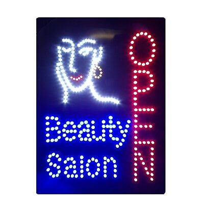 New Beauty Salon Open Flashing Led Hanging Sign High Quality Window Sign Board
