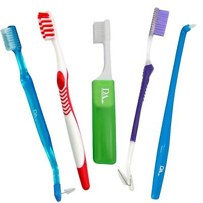 Orthodontic 5 Toothbrush Starter Pack ~ 5 Brushes for Braces VTrim, Interspace