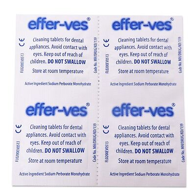 Effer-Ves Sample x 20 Tablets ~ Cleaning Retainer Braces Brite Clear Aligners