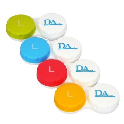Contact Lens Case x 4 ~ Storage Set for Soft Lenses Travel Cases Colour Options