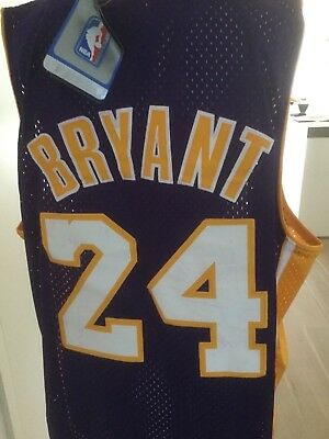 LA LAKERS ADIDAS NBA Trikot Jersey 24 Kobe Bryant XL Neu Basketball Black Mamba