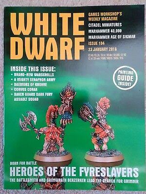 white dwarf issue 104 - 23rd January 2016