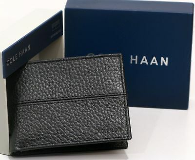 9c9578d9acc NEW IN BOX Men's COLE HAAN BLACK Pebble Leather Slim Wallet Billfold GREAT  GIFT! - $24.50 | PicClick