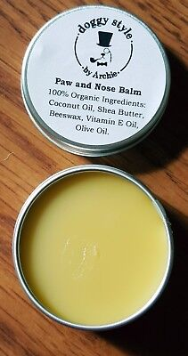 Dog Paw and Nose Balm 100% Organic 10ml Natural Unscented Moisturizing Dog Balm
