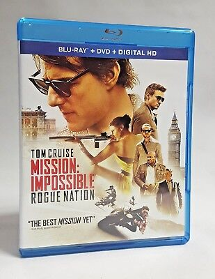 Mission Impossible Rogue Nation Blu-Ray DVD Digital HD Tom Cruise Secret Agent