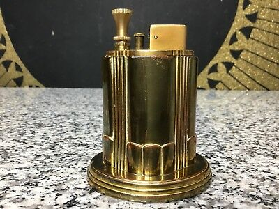 Vintage 1930s Art Deco Ronson Touch Tip Aristocrat Table Lighter Art Metal Works