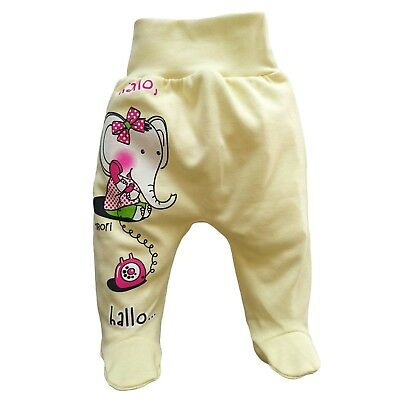 05fa3314d BNWT BABY Toddler Girls Trousers with feet 100% Cotton Newborn 12-18 ...